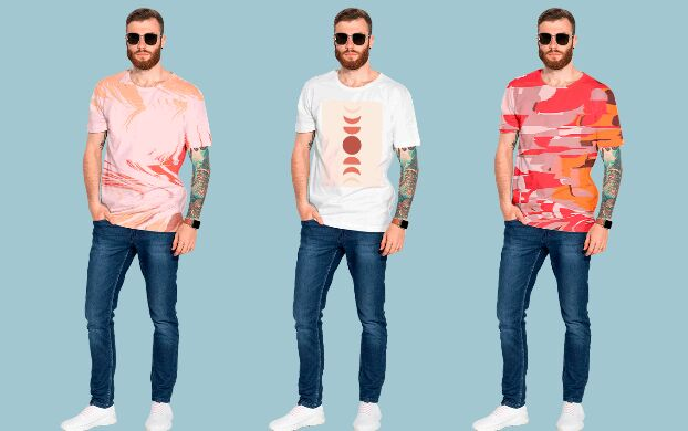 T-shirt Mockup With Real Male Model