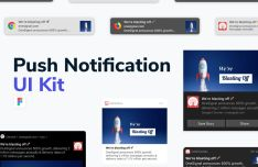 Push Notification UI Kit Figma