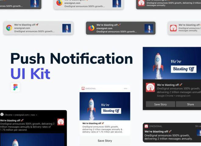 Push Notification UI Kit Figma