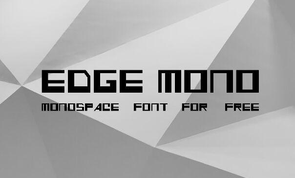 EDGE MONO Font