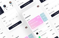 Money Transfer App UI For Sketch