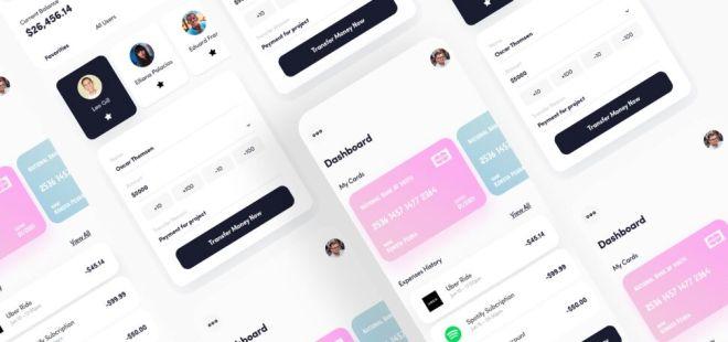 Money Transfer App UI For Sketch