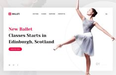 Ballet Dance Web Template For Adobe XD