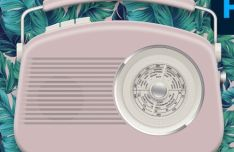 Realistic Retro Radio Template PSD