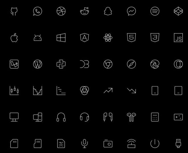 540+ Tiny Stroke Icons Figma