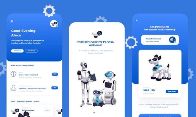 Artificial Intelligence Remote App UI Design