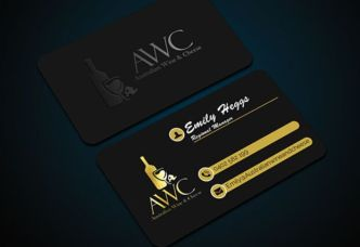 Luxurious Dark Business Card PSD Mockup