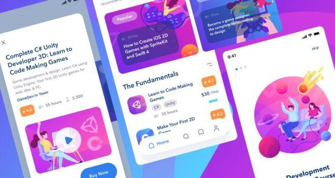 Online Courses Mobile App Design Figma