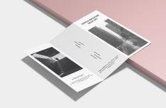A4 Size Trifold Brochure Mockup PSD