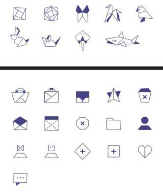 25 Origami Icons Vector