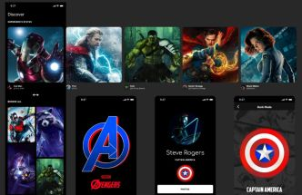 Avengers App Design For Figma