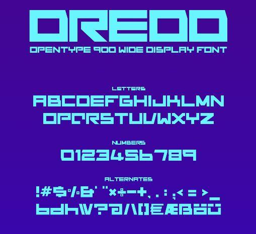 Dredd Font