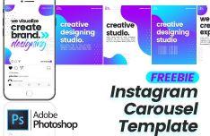 Instagram Carousel Template PSD