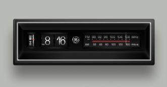 Realistic Electric Flip Number Clock Figma