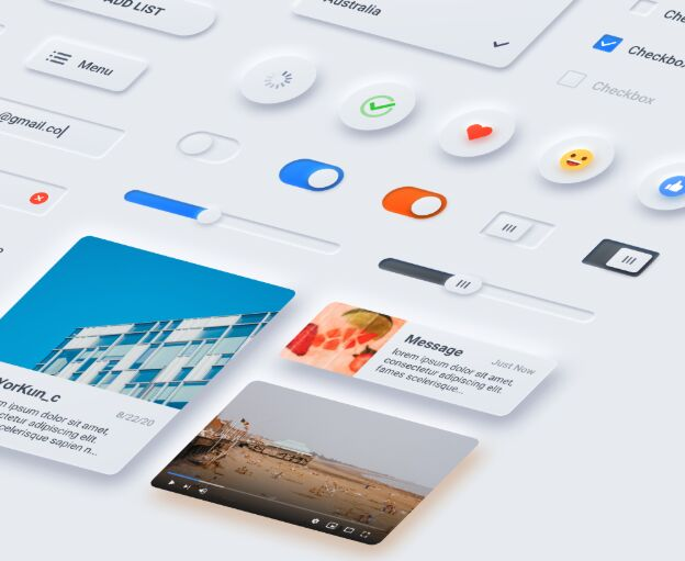 Neumorphic Shadow UI Kit Figma