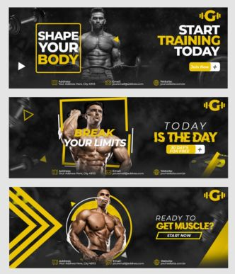 Gym And Fitness Facebook Cover PSD Template