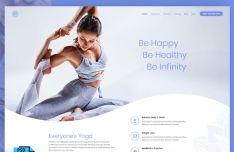 Fashion Yoga Website Templage PSD