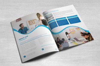 Company Profile Brochure Vector Template