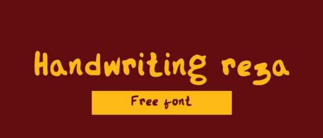 Rega Handwriting Font