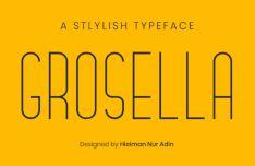 Grosella Stylish Font