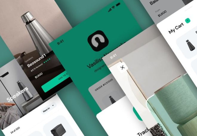 Clean Mobile App Concept Design Figma