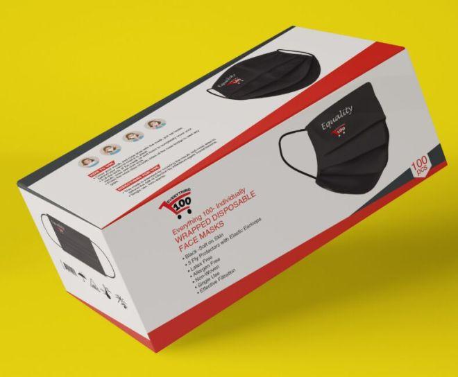 3D Mask Box Template PSD