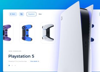 PlayStation 5 Landing Page Template Adobe XD