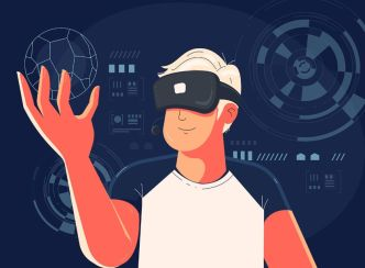 Man In VR Illustration For Illustrator