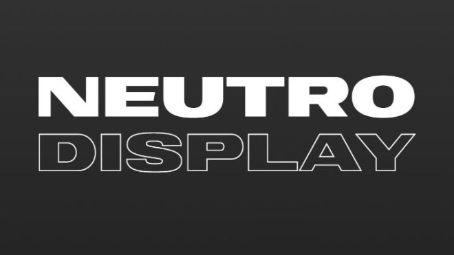 Neutro Display Font