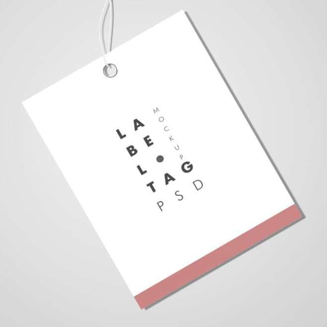 Minimal Fashion Label Tag PSD Mockup