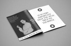 A4 Magazine Design Mockup PSD