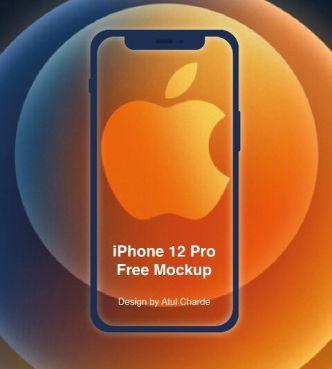 Minimal iPhone 12 Pro PSD Mockup
