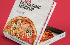 Pizza Box PSD Mockup