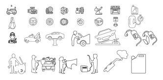 Car Service Vector Icon Set