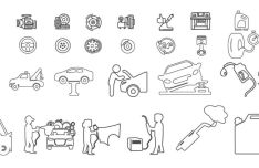 Car Service Vector Icon Set