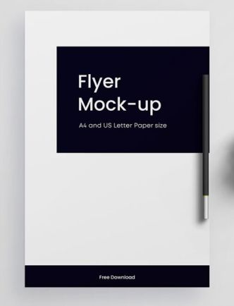 Clean Flyer Mockup For Photoshop