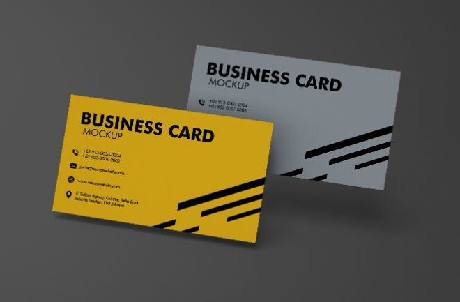2 Realistic High Resolution Business Card Mockups