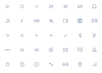 100+ Thin Line UI Icons Vector