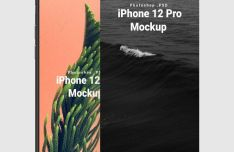 iPhone 12 Mockup PSD (Front View)