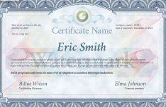 Editable Certificate Temple PSD