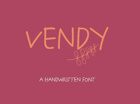Vendy Handwritten Font