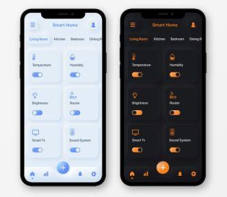 Neumorphism Style Smart Home App Design For XD