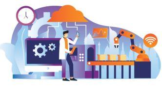 Industry 4.0 Vector Illustration