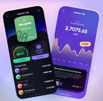 Modern Crypto App Design Sketch