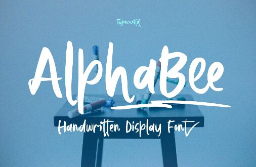 AlphaBee Handwritten Display Font