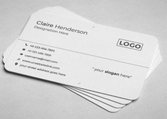 2 Professional Rounded Business Card Templates PSD