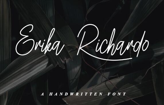 Erika Richardo Script Font
