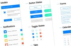 Tiny Clean Web UI Kit XD