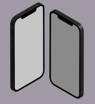 Isometric iPhone 12 Vector Template