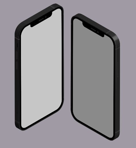Isometric iPhone 12 Vector Template